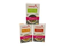Les graines germées - Graines germées, source de vitamines, protéines et GABA (acide aminobutyrique). Rapides à préparer. Aux propriétés anti-stress et relaxantes. Consommer chaud ou froid en salade.<br><br>Sélectionné pour l'offre de graines germées prêtes à cuisiner.<br>