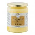 Coconut oil and ghee butter - Mélange d'huile de noix de coco et ghee (beurre clarifié).<br><br>Sélectionné pour le produit ghee associé à l'huile de noix de coco.<br>