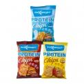 Protein chips - Chips protéinées cuites au four, sans huile de palme. Vegan. Riche en fibres. Pauvre en matières grasses.<br><br>Sélectionné pour la recette de chips enrichies en protéines de riz et pois.<br>