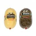 Petit Polenta et Petit Quinoa à trancher - Céréales en boudin prêtes à trancher et poêler en quelques minutes. Sans gluten.