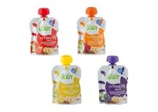 Le petit déj - Purée biologique de fruits, graines et huiles en gourde pour le petit-déjeuner des bébés. Contient au minimum 48% de purée de banane, du jus de citron, de la farine de graines de lin et de sésame et un mélange de 7 huiles. Certification européenne et AB.<br><br>Sélectionné pour la proposition pour bébés de petit-déjeuner en gourde à base de fruits et supergraines (lin, sésame).<br>
