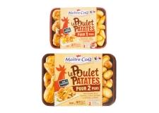 Le Poulet Patates - Découpes de poulet rôti et pommes de terre cuisinées en barquette micro-ondable. Sans conservateurs. Volaille française. Pommes de terre françaises.<br><br>Sélectionné pour le caractère pratique du produit.<br>