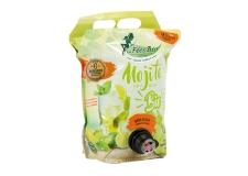 Mojito bio - Cocktail biologique sans alcool en poche souple de 3l avec robinet. Certification AB et européenne. 6 semaines de conservation après ouverture. Vegan.<br><br>Sélectionné pour l'offre de mojito sans alcool biologique en poche de 3l.<br>
