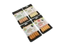 Saucisse végétarienne biologique - Saucisses végétariennes biologiques. A base d'amidon de blé et légumes.<br><br>Sélectionné pour l'offre de saucisse végétale et biologique.<br><br>