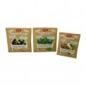 Frozen vegetables in paper-based bag - Légumes surgelés issus de filière éco-responsable dans un sachet biodégradable en papier. Sans résidu de pesticides. Pratiques agricoles avec faible impact environnemental sur l'air, la terre et l'eau.<br><br>Sélectionné pour le caractère éco-responsable de la production et l'emballage.<br>