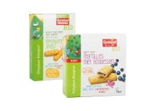 Barre reep myrtilles - Biscuits biologiques vegan pour bébé. Sans lactose. Sans oeufs.<br><br>Sélectionné pour la proposition d'alimentation infantile vegan.<br>