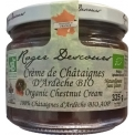 crème de chataigne AOP bio - Crème de châtaigne Ardèche Bio 100 % AOP en bocal de 325 grammes.