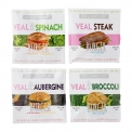 Veal & Aubergine Burger - Easy to prepare high quality, all natural , lean ( hybrid ) veal & vegetable burger , available in 4 different flavour combinations and more flavours to come ( especialy for AIRFRYER & OVEN ) <br /> NO ADDED ARTIFICIAL COLOURS , FLAVOURS & INGREDIENTS . GMO FREE , CLEAN LABEL.