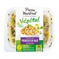 Perles de blé à l'échalote - Salade composée 100% végétale sans conservateur. Source de protéines. Préparée en France. <br><br>Sélectionné pour l'utilisation de perles de blé en salade individuelle.<br>