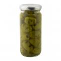 Grilled olives - Olives vertes grillées, marinées et fumées.<br><br>Sélectionné pour le goût nouveau apporté par les olives grillées.<br>