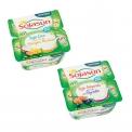 Desserts Sojasun bi-couche sur lit de fruit - Teneur réduite en sucre - Dessert de soja et noix pauvre en sucre sur lit de fruit. Source de calcium. Riche en protéines végétales. Soja français sans OGM.<br><br>Sélectionné pour le mélange de soja et d'une autre boisson végétale.<br>