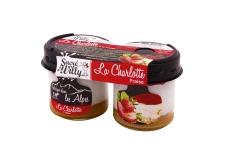 La Charlotte - Charlotte aux fruits dans un pot en verre. Au lait des Alpes. Pack de 2.<br><br>Sélectionné pour la sophistication de la recette de charlotte et du process.<br><br>