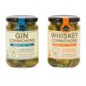 Cornichons gin & cornichons whisky - Cornichons à l'alcool sélectionné.<br><br>Sélectionné pour l'originalité du goût proposé par l'ingrédient alcool.<br>