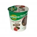 Cerbona gluten free choco-sour cherry in cup - Muesli gourmand sans gluten en pot nomade. A base de maïs et sarrasin. Sans lactose.