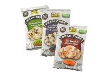 Brown whole grain rice chips - Crackers de riz brun et légumineuses riches en protéines et fibres. Sans gluten. Vegan. Non frits. 100% natural. <br><br>Sélectionné pour l'offre de snacks aux légumineuses.<br>