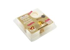 Boîte de 8 nids de meringues croquants prêts à garnir - Meringue croquante en forme de nid prête à garnir. Avec sachets d'éclats de palets bretons. Fabrication artisanale. 8 meringues.<br><br>Sélectionné pour la proposition de kit (meringue + garniture) pour la réalisation de dessert par le consommateur lui-même.<br>