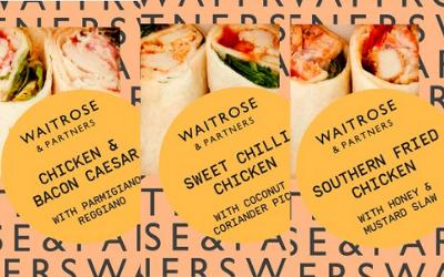 La marque Waitrose a lancé plusieurs références de wraps à base de poulet  à déguster partout et à tout moment