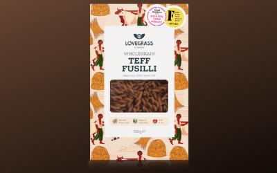 Les pâtes de The Lovegrass sont fabriquées  à 100% avec de la farine de Teff.
